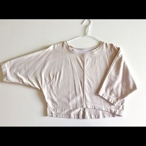 BABATON Sporty Crop Top in Light Taupe